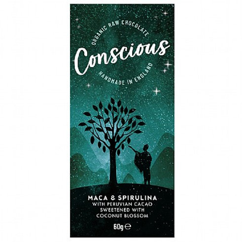 Conscious Chocolate - Maca & Spirulina 60g