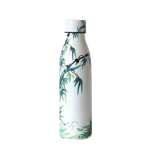 Botella de acero inoxidable de bambú 500ml
