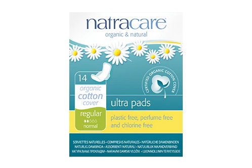 NatraCare Organic Ultra Pads - Regular - pack of 14