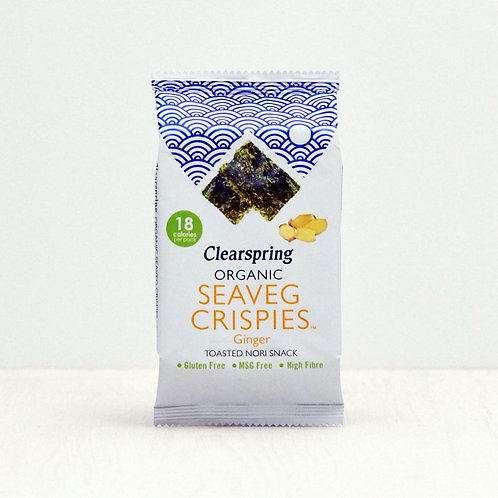 Clearspring SeaVeg Crispies Toasted Nori - Ginger 4g