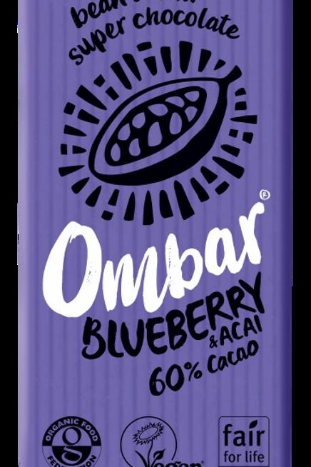 Om Bar Blueberry & Acai 60% cacao 35g