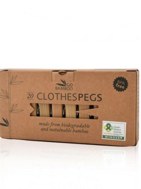Pinzas de ropa de bambú