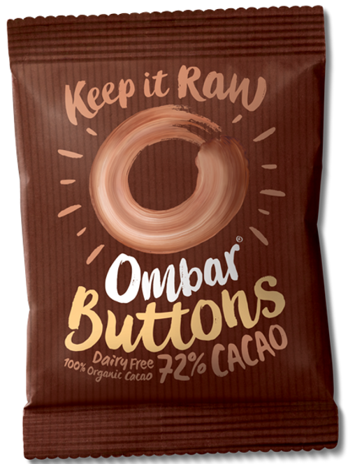 Om Bar Buttons 72% Cacao 25g