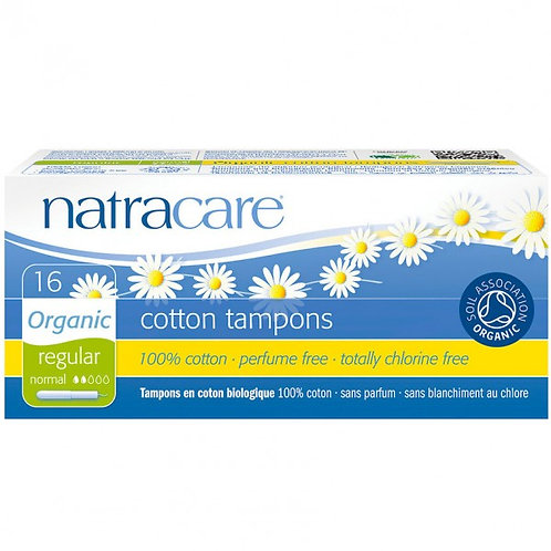 NatraCare Organic Cotton Tampons - regular - pack of 16