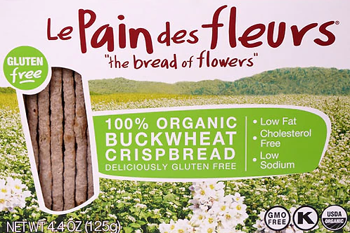 Le Pain de Fleurs Buckwheat Crackers 125g