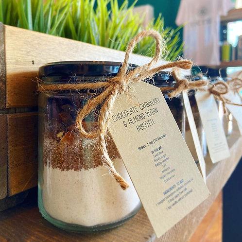 Tierra Recipe Jar - Chocolate, Cranberry and Almond Vegan Biscotti