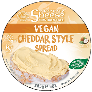 Crema de Queso Vegano Sheese Cremoso Estilo Cheddar