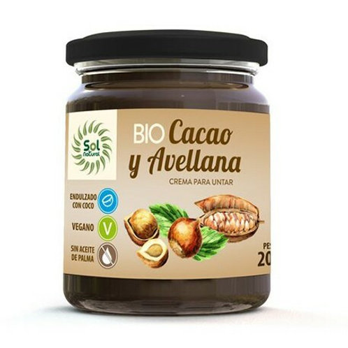 Sol Natural Cacao y Avellana 200g