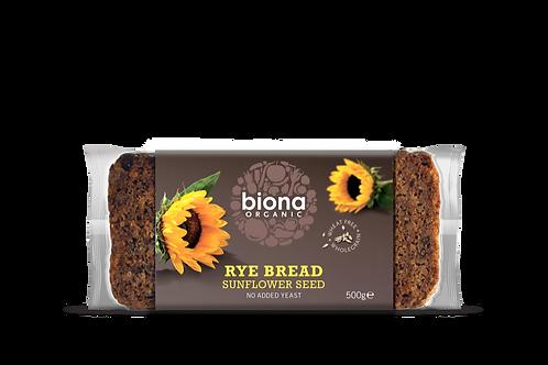 Biona Organic Rye Bread with Sunflower Seeds 500g