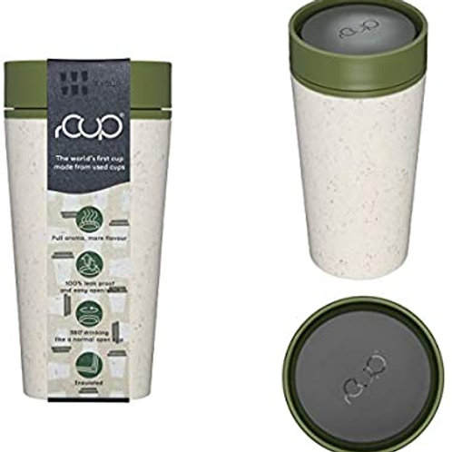 rCup Cream & Green Reutilizable Coffee Cup 12oz