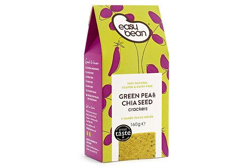 Easy Bean Green Pea & Chia Seed Crackers 160g