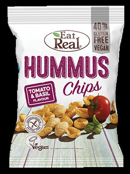 Eat Real chips de humus de tomate y albahaca 45g