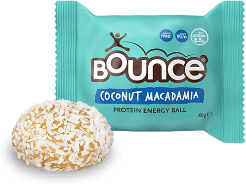 Bola de proteína de coco y macadamia de rebote 40 g