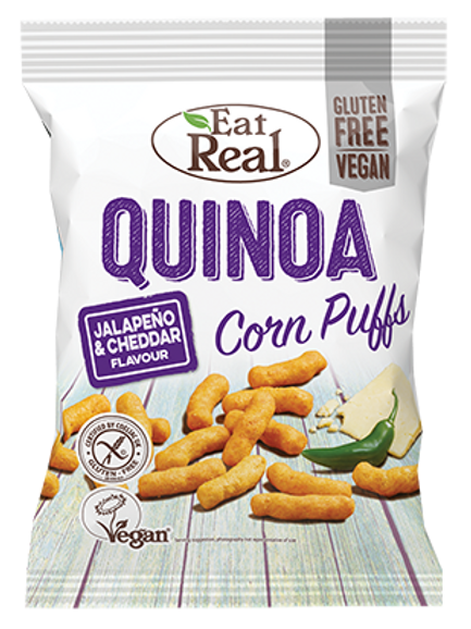 Eat Real Quinoa Puffs - Jalapeno& Cheddar 40g