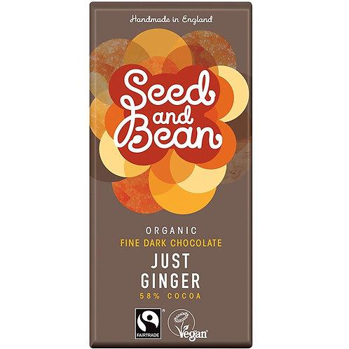 Seed & Bean Ginger 58% Dark Chocolate 85g