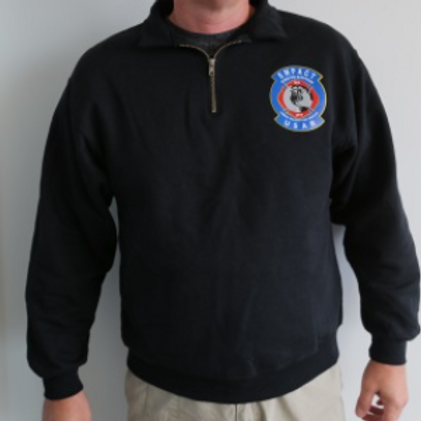 Quarter Zip Cotton Sweatshirt
