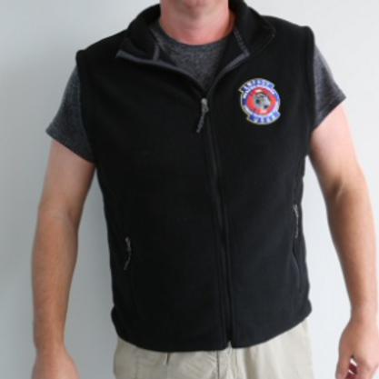 Fleece Vest, Black, USAR Logo