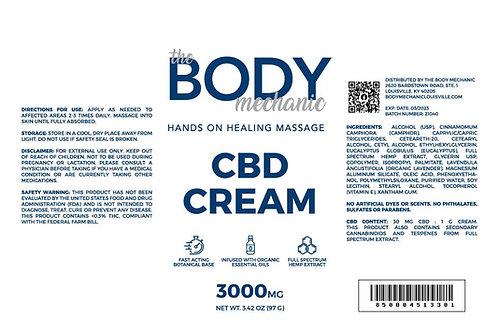 3000 MG Full Spectrum CBD Cream (3.42 oz)
