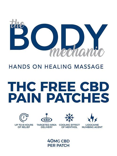 THC Free CBD Lidocaine Pain Patches (3 per Pack)