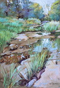 """Late Afternoon At Wild Horse Creek"""