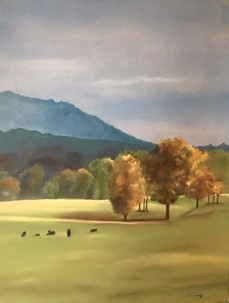 """Autumn Pasture on the Pig Trail"""