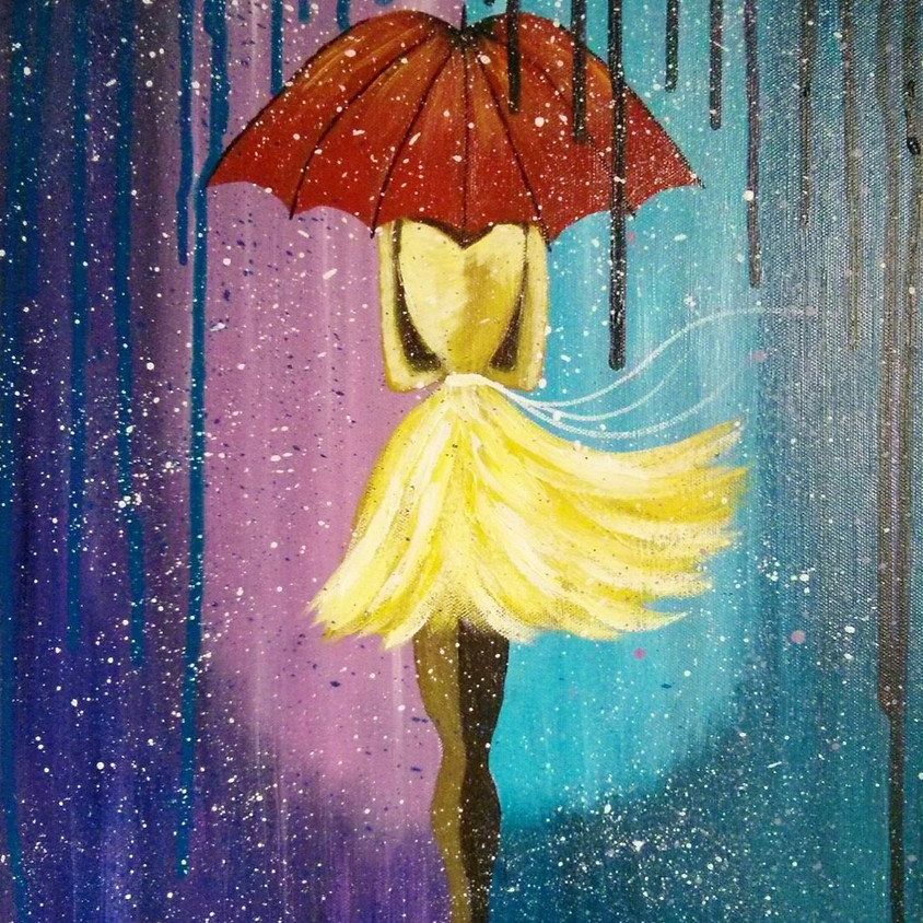 Umbrella Girl Paint Party