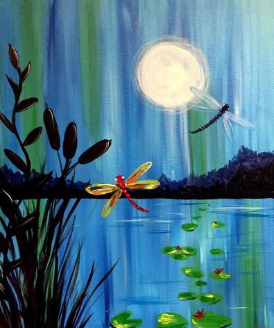 Moonlit Night at the Lake