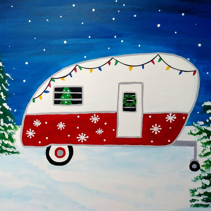 Christmas Camper Paint Party
