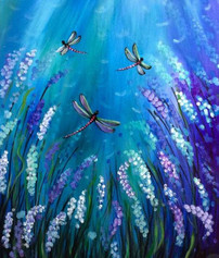 Dragonflies and Lilacs