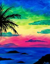Tropical Rainbow Sunset