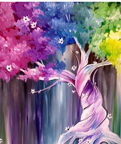 Twisted Rainbow Tree