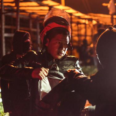 Vigilante checkpoint, Guatemala