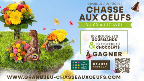 Le Jardin des Fleurs offre 100 bouquets gourmands et 10 paniers de chocolats pour Pâques
