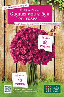 Avec Le Jardin des Fleurs, gagnez votre âge en roses !