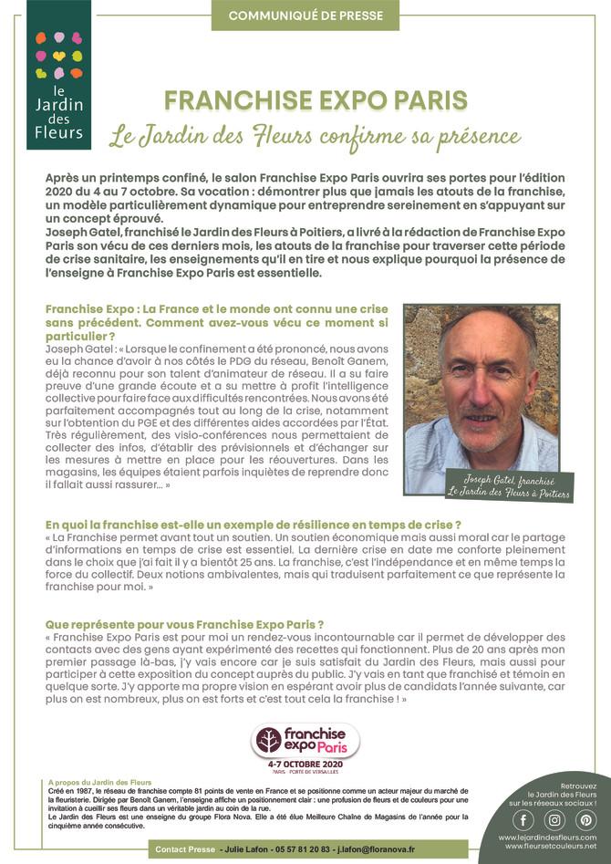 RDV du 4 au 7 octobre au salon de la Fédération française de la franchise !