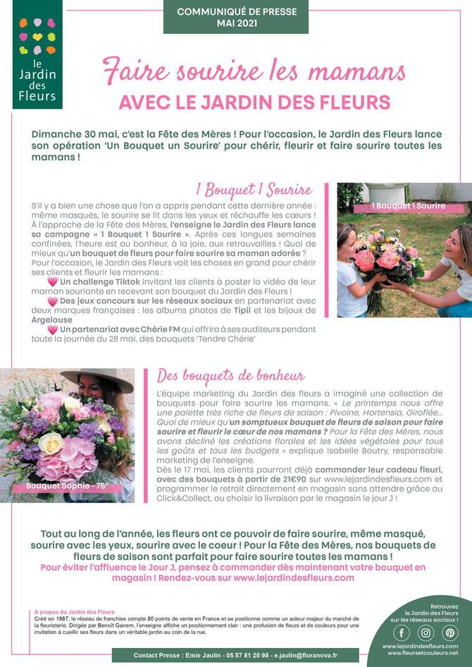 Le Jardin des fleurs fait sourire les mamans pour la Fête des Mères