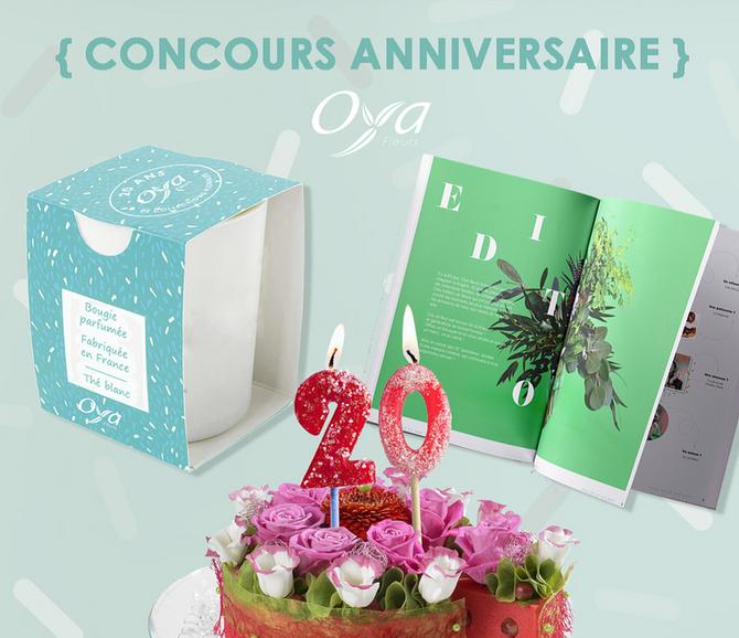 Oya Fleurs gâte ses clients pour son 20 ème anniversaire
