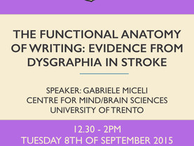 The functional anatomy of writing: evidence of dysgraphia in stroke