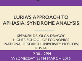 Luria's approach to aphasia: sydrome analysis