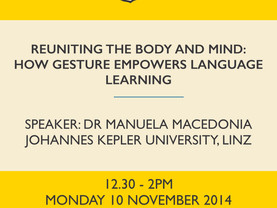 Reuniting the body and mind: How gesture empowers language learning