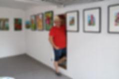 Ein Blick in meine Garagengalerie mit der aktuellen Ausstellung 'Burgen in der Pfalz'