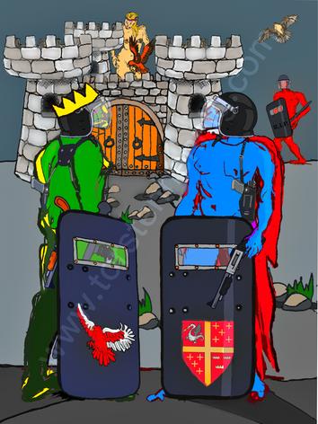 Siegfried vor den Toren Worms