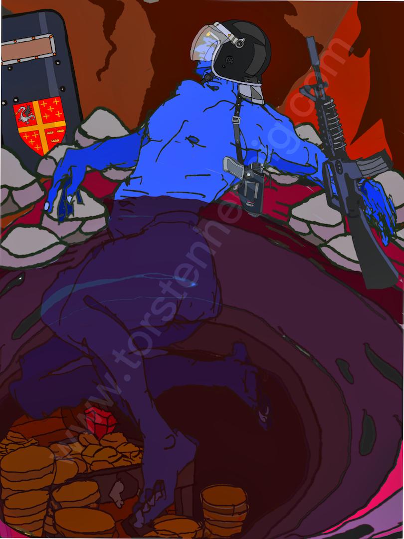 Siegfried badet im Drachenblut