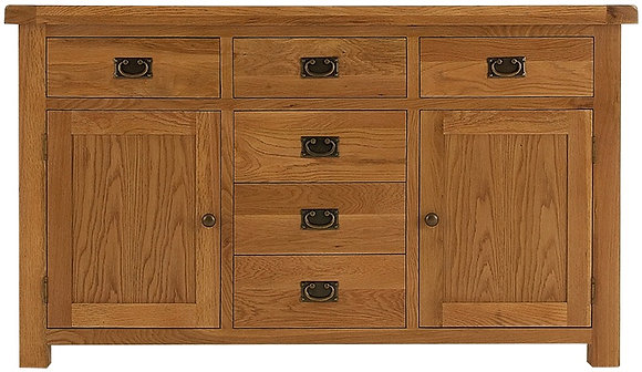 OAK-LS 2 Door 6 Drawer Sideboard
