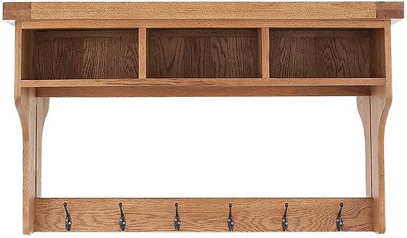 OAK-HSU Hall Shelf Unit With Mirror