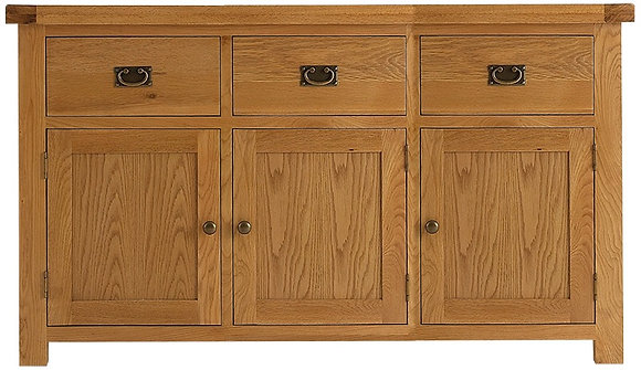 OAK-3DS 3 Door Sideboard