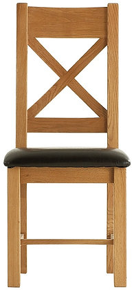 OAK-CBCPU Cross back chair