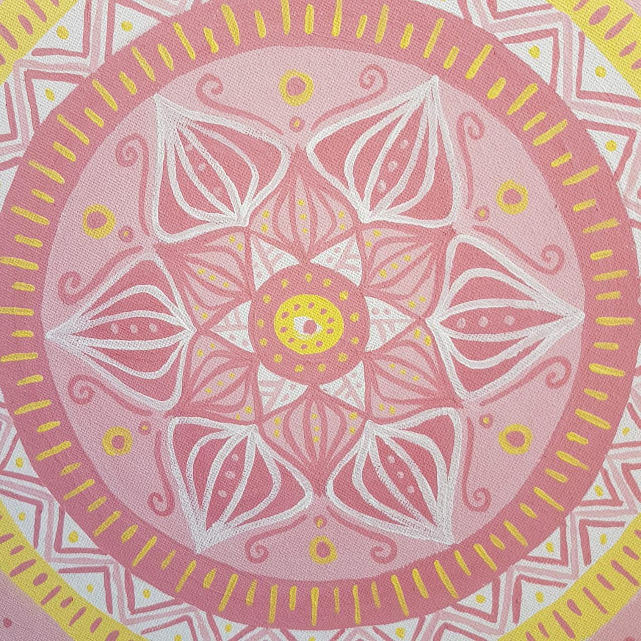 Mandala on canvas atwork