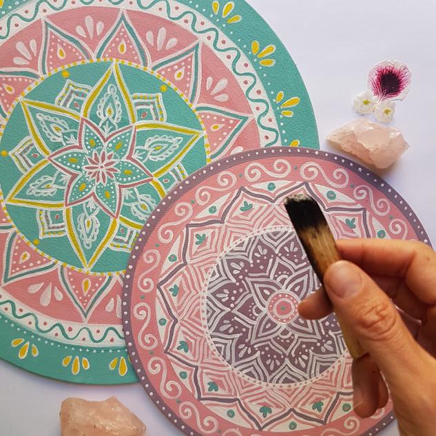 Mandalas on canvas