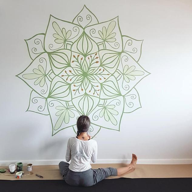 Mandala mural for Body Awakening yoga studio in Sydney, Australia